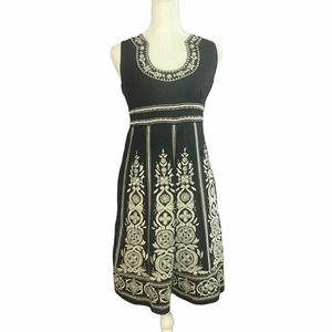 INTERNATIONAL CONCEPTS Black Embroidered Dress